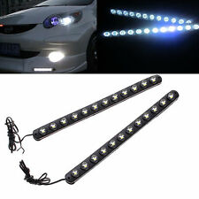 2 x Car White 5050 LED Daytime Running Light DRL Fog Lamp Car Driving Day Lights