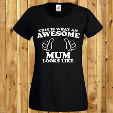 Awesome Mum T-Shirt Mothers Day Gift Mummy Birthday Present New Top Thumbs Love