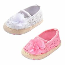 0-18 M Girl Baby Soft Soled Crib Crohet Shoes Flower Princess Slip-On Prewalkers