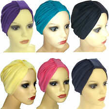 Cotton headwear .Turban hat, chemo hair loss. Can be worn with a scarf or brooch