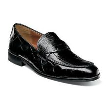 Stacy Adams Corsica Mens shoes Black crocodile Print Leather Loafer 25027-001