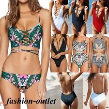 Sexy Women One Piece Push-Up Monokini Bikini Padded Bra Swimsuit Bathing Suit FO