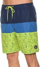 NEW VOLCOM boardshorts swim drawstring waist trunks RAZZY blue green XL or XXL