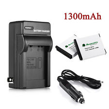 NB-6LH NB-6L Battery + Charger for Canon Powershot D10 S95 SD1300 SX500 IS
