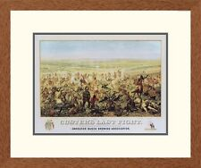 Global Gallery Western Custers Last Fight Framed Graphic Art