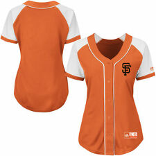 San Francisco Giants Majestic Women's Fashion Replica Jersey - Orange - MLB