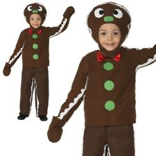 Gingerbread Man Childrens Christmas Novelty Fancy Dress Costume Ages 3-9