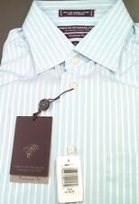 FORSYTH Men Dress Shirt 100% Cotton 2X2 Stripe Spread Collar $115 NWT 16-34/35