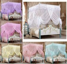 Luxury Four Corner Post Bed Canopy Mosquito Netting Or Frame Post All Size