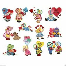 "Sunbonnet Sue In Love Applique Machine Embroidery Quilt Blocks ""read description"