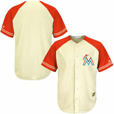 Miami Marlins Majestic Cool Base Ivory Fashion Team Jersey - MLB