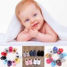 Shiny Baby Tassel cozy Leather slippers Infant boy gril Toddler Moccasin 123#QWQ