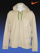 New NIKE Plus + Ventilated Full Zip RUNNING Hoodie JACKET DriFit Beige L- XL