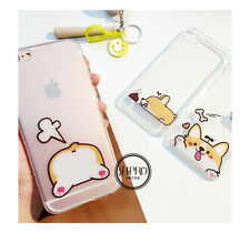 3D Transparent Cute Shiba French Bulldog Funny Soft Case For iPhone 6 6S 6 Plus