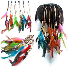 Hot Fashion Bohemia Cosplay Cock Feather Clip In/on Hair Extensions Hairpin Lot