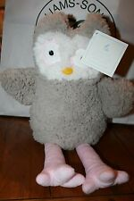 NEW POTTERY BARN KIDS SHERPA STUFFED OWL HAYLEY SOLD OUT NWT