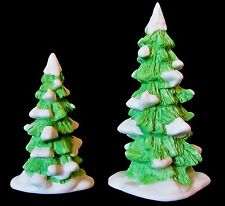 Department 56 Heritage Collection Snowed Covered Pines Set of 2 porcelain trees