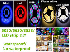 5M/lot 300LED SMD 3528/5050/5630 IP65/IP20 RGB Flexible LED Strip Lamp Light DIY