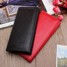 New Women Men Leather Clutch Wallet Long Card Holder Case Purse Coin Bag Handbag