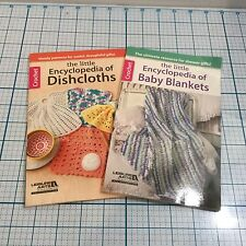 New (2 ) LEISURE ARTS Little Encyclopedias: DISHCLOTHS, BABY BLANKETS - Crochet