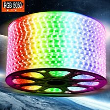 New 220V 240V RGB LED Strip Light Waterproof 5050 SMD tape lighting rope 1-100m
