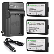 LPE10 LP-E10 Battery + Charger For Canon EOS Rebel T3 T5 KISS X50 X70 100D 1200D