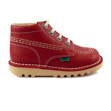 Junior Kickers Kick Hi Red Leather Boots