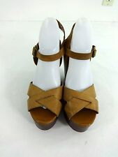 ALDO WOMENS NATURAL LEATHER STRAPPY PLATFORM HEELS SHOES SIZE 41 /US 10.5