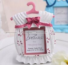 Resin Pink/Blue Bow Newborn Baby Shower Photo Frame Picture Holder Xmas Gift