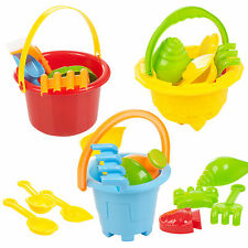 Sand Castle Bucket & Spade Kids Beach Seaside Play Water Toys Tools Set Moulds