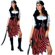 Pirate Lady Costume Ladies Pirates Fancy Dress Outfit Caribbean Size 6/28