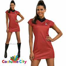 Adults Womens Official Licensed Star Trek Deluxe Uhura Fancy Dress Party Costume