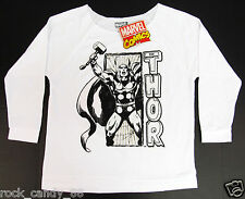 MARVEL COMICS MIGHTY THOR Long Sleeve Terry Raglan T-shirt Womens L,XL,2XL NWT