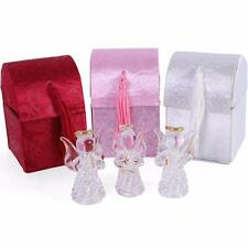 Guardian Angel Worry Box - Cute Glass Ornament - 3 Designs Red, White and Pink