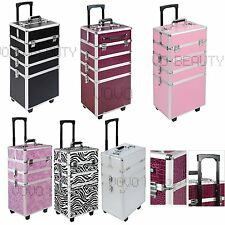 4in1 Aluminium Rolling Make up Train Case Cosmetic Beauty Box Organizer Trolley