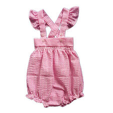 2016 Pink Striped Infant Baby Rompers Newborn Baby Girls Outfits Kids Jumpsuits