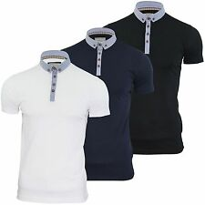 Mens Polo T Shirt Chimera Brave Soul Denim Collar Short Sleeved Cotton Top S-XL