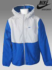 NEW Nike Thermore Insulated Hooded Jacket Fleece Lined Blue