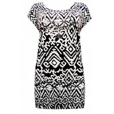 NEW - EVANS AZTEC PRINT EMBELLISHED TUNIC TOP - IN SIZES 18, TO 26/28