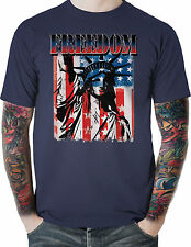 Patriotic American Flag T Shirt Freedom Statue Liberty All Sizes Free Shipping