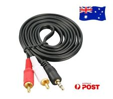 AUX 3.5mm Male to 2 RCA 2RCA Male M/M Stereo Audio Adapter Headphone Cable Cord