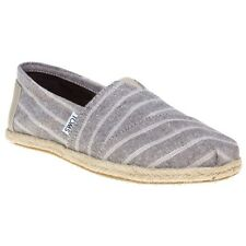 New Womens Toms Brown Multi Classic Textile Shoes Canvas Slip On