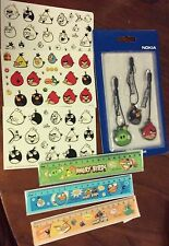 Angry Birds party favours Eraser Rulers Badges over 40 pieces