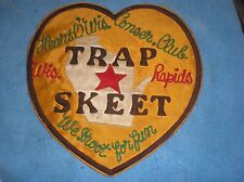 VINTAGE HEART O' WISCONSIN CONSERVATION CLUB PATCH WISCONSIN RAPIDS SKEET TRAP