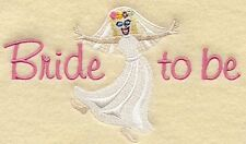 BRIDE to Be Bathroom & kitchen Towels ~Embroidered Hand Bath Towels Personalized