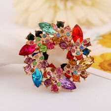 Fashion Redbud Rhinestone/Crystal Brooch Pin Bridal Brooches