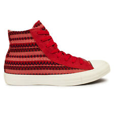 Mens Converse Chuck Taylor Blanket Hi Varsity Red Trainers