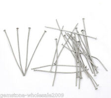 Wholesale Mixed Lots Silver Tone Flat Head Pins 0.7x50mm(21 gauge)