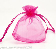 Wholesale NEW 7x9cm Fuchsia Drawable Organza Wedding Gift Bags&Pouches