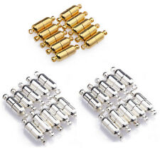 10 Sets Silver Gold Plated Oval Magnetic Clasps Connectors For Jewelry Making
